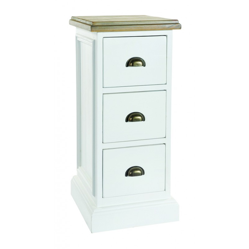 stylish hand painted 3 drawer solid pine chest of drawers