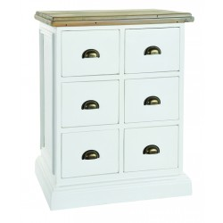 An image of Winslow Hand Painted 6 Drawer Storage Unit