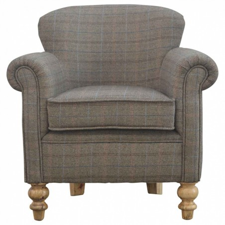Brampton Tweed Armchair Front