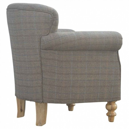 Brampton Tweed Armchair Side Angle