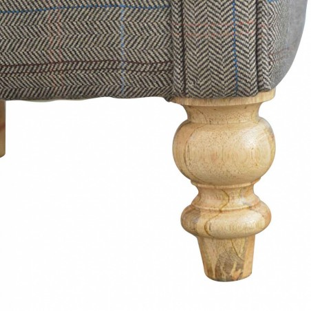 Brampton Tweed Armchair Feet