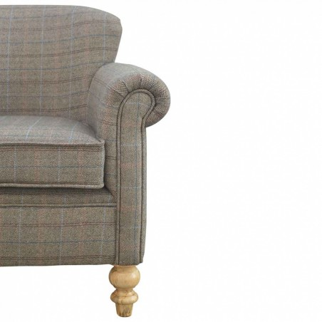 Brampton Tweed Armchair Front Side