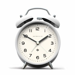 An image of Newgate Charlie Bell Echo Alarm Clock Pebble White