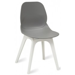 Sligo chair with a grey seat and white legs