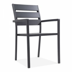 polywood garden dining armchair in Black