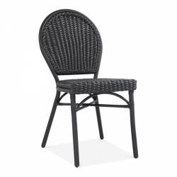 An image of Watchet Rattan Garden Chair Black