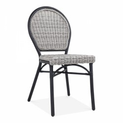 An image of Watchet Rattan Garden Chair Grey