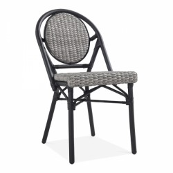 An image of Pavilion Rattan Garden Dining Chair Grey