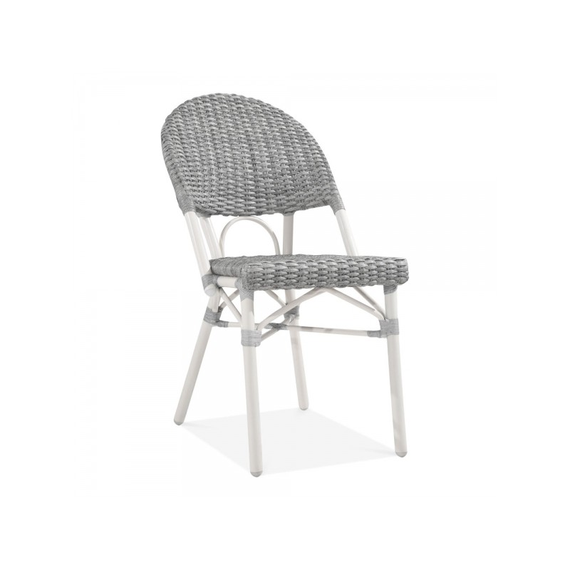 grey and white rattan chair for gardens and patios  sc 1 st  Funki Homes & French Bistro style Rattan Garden Chair | Fayre