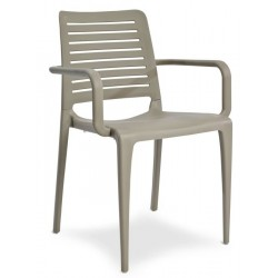 capri armchair in taupe front angle