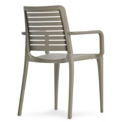 capri armchair in taupe rear angle