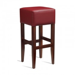 read leather solid framed bar stool