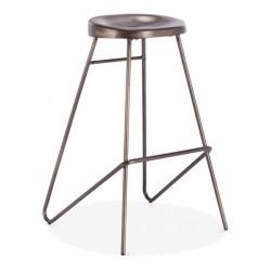 metal bar stool rustic frame and steel seat