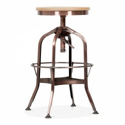 Toledo Style Trax Swivel Bar Stool - Copper  fromt view