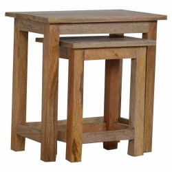 Cappa Stools/Nested Tables set of 2 Right Angle