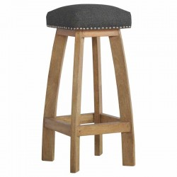 Cappa Stool With Black Tweed Angle Left