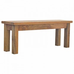 Cappa Solid Wood Bench Front Angle Left