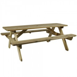 Garden picnic table natural finish