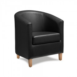 Potenza Leather Tub Chair