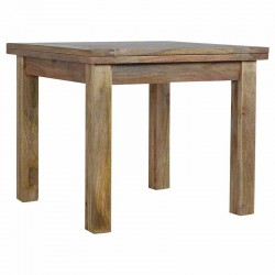 Cappa Butterfly Dining Table with Straight Legs Left Angle