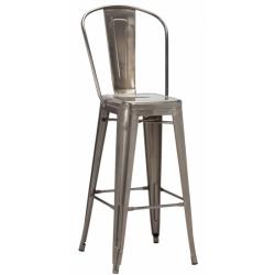Tolix Gun Metal High Chair