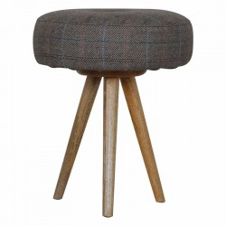 Cappa Tripod Stool With Seat Pad Front