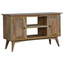 Cappa 2 Drawer Solid Timber Media Unit Left Angle