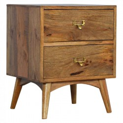 Cappa Nordic Style Two Drawer Bedside Front Left Angle