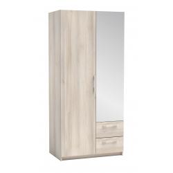 light oak 2 door wardrobe