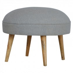 Cappa Nordic Style Round Footstool Front