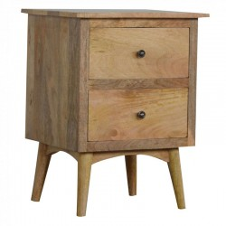 Cappa 2 Drawer Bedside Table Left Angle