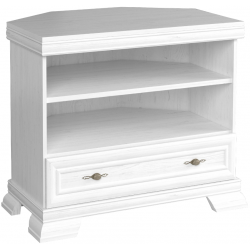 white ash tv corner unit with 1 drawer