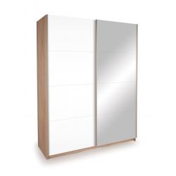 gloss white mirrored sliding door wardrobe