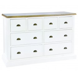 large wide 8 drawer chest of drawers