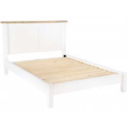 hand painted two-tone king size bed frame