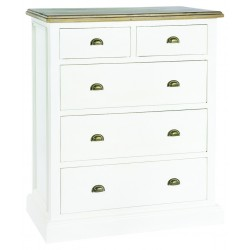 An image of Winslow Hand Painted Large 5 Drawer Chest of Drawers