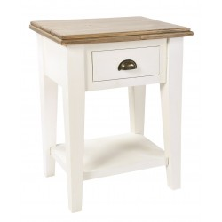 hand painted bedside table with one drawer