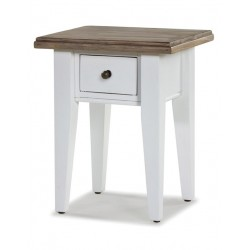 small hand painted white bedside table