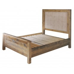 reclaimed timber king size bed frame