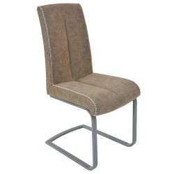 faux leather brown dining chair