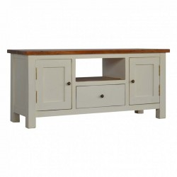 Cappa 2 Toned TV Stand Left Angle