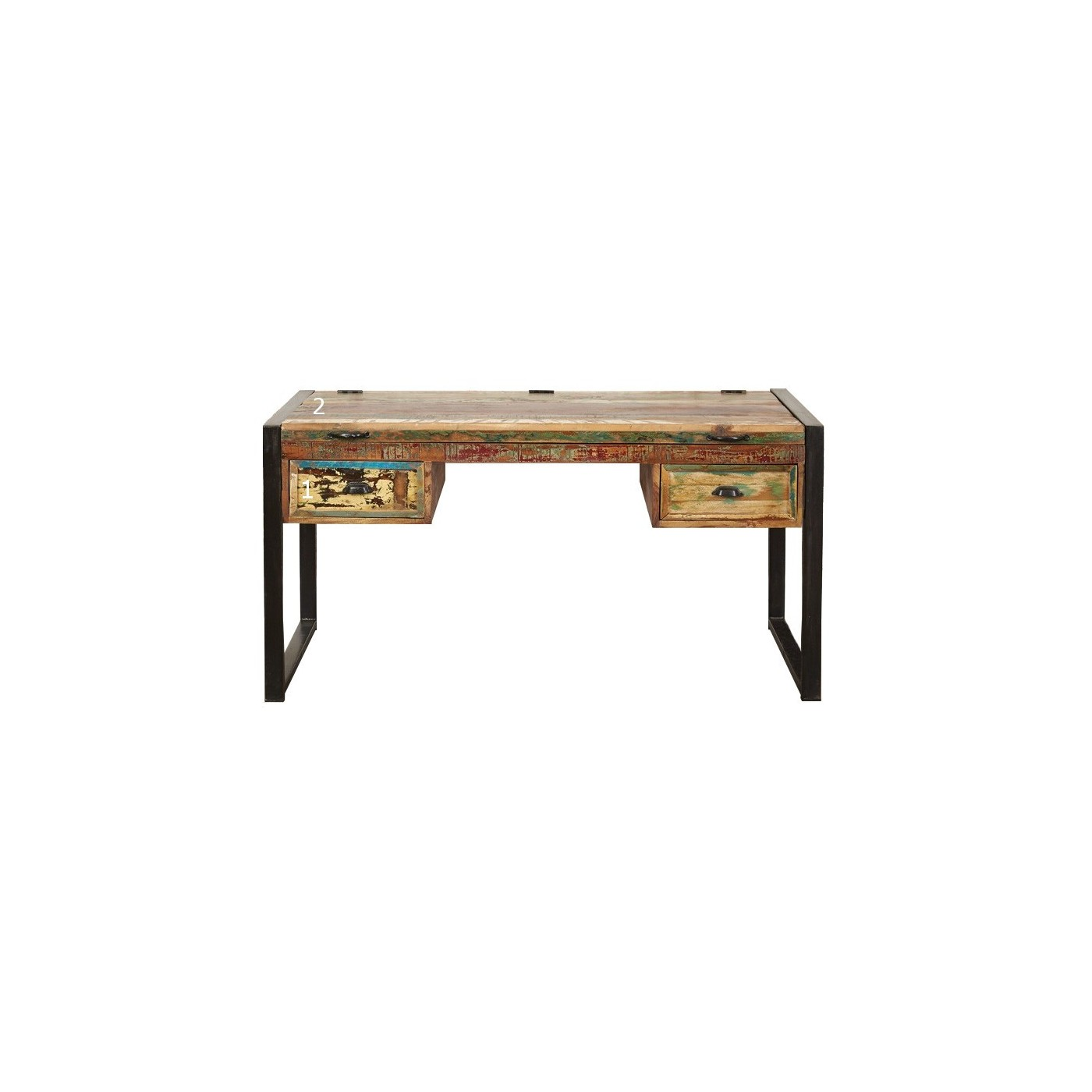 Large Reclaimed Wood Office Desk with Secret Compartment | Akola