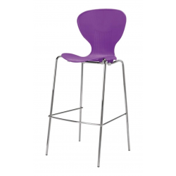 purple funkette coloured tall stool