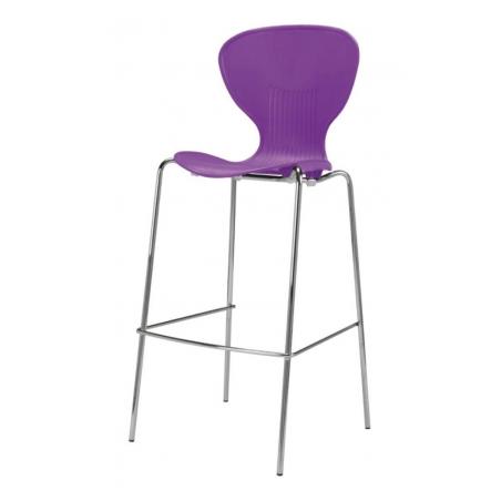 purple funkette coloured tall stool