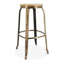 vintage style brass metal bar stool