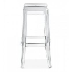 clear transparent bar stool