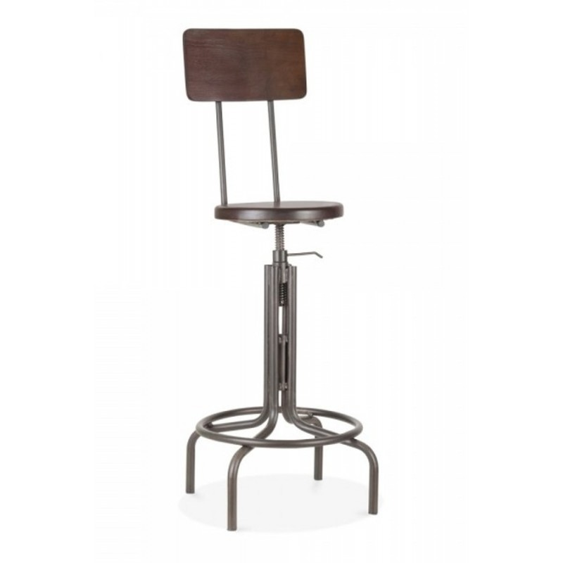 High Back Swivel Bar Stool Preston