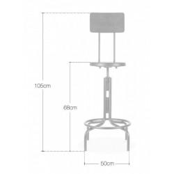 Swivel bar stools Dimensions