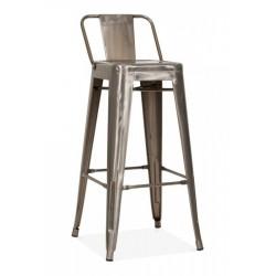 xavier pauchard tolix metal bar stool with back in gunmetal