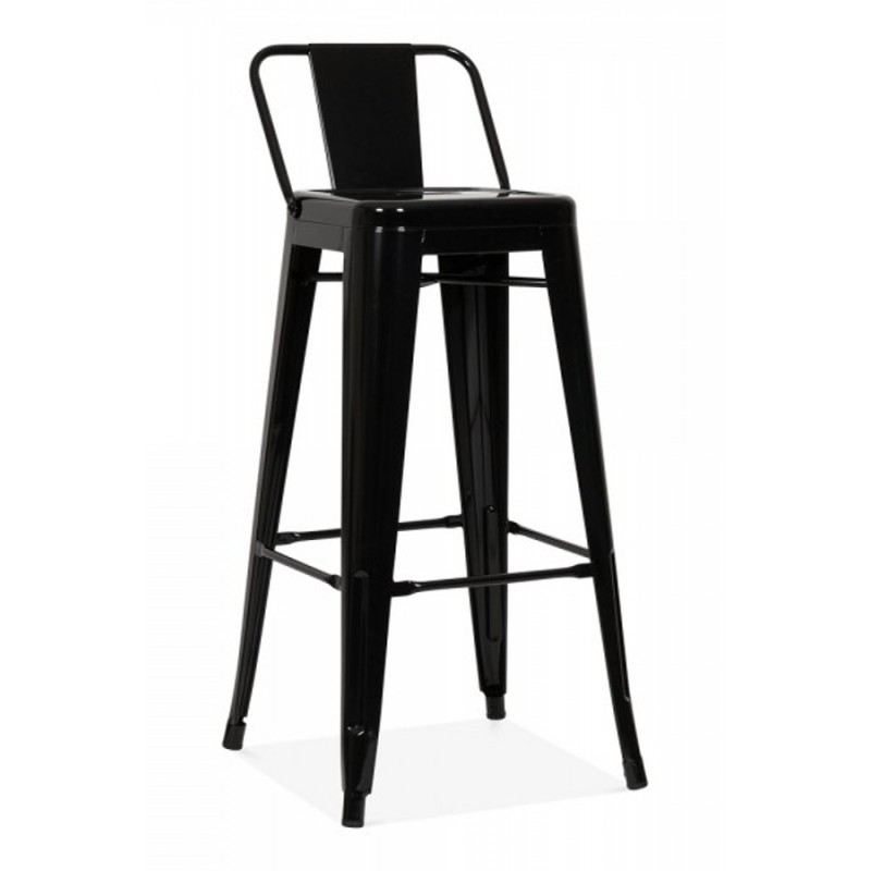 xavier pauchard tolix metal bar stool with back in black  sc 1 st  Funki Homes : bar chair with back - Cheerinfomania.Com